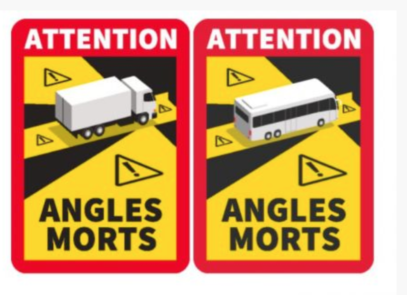 LA FRANCE REQUIERT DES AUTOCOLLANTS D'AVERTISSEMENT POUR LES ANGLES MORTS